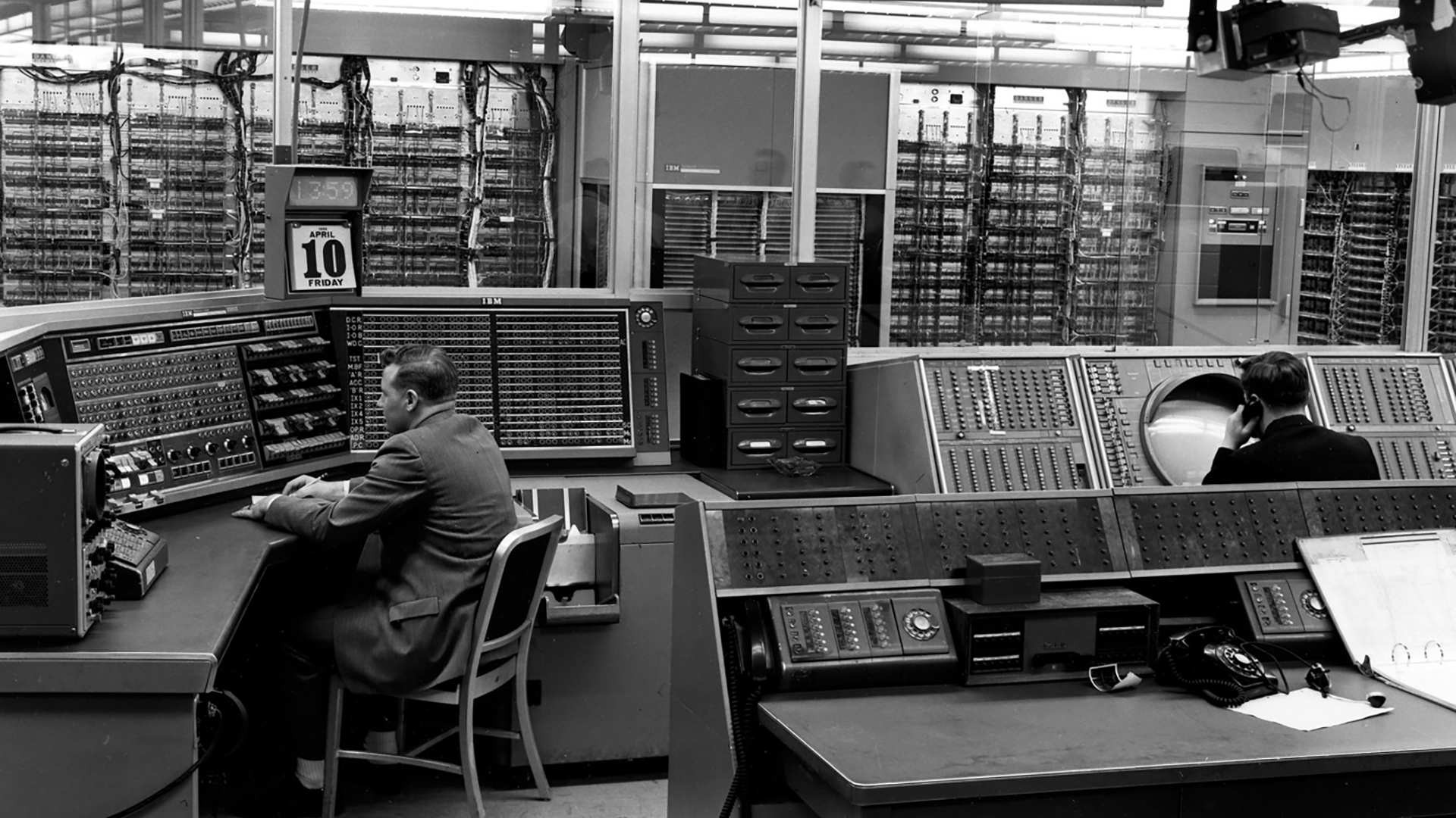Control-Console-of-the-XD-1-Computer-for-SAGE-Experimentation